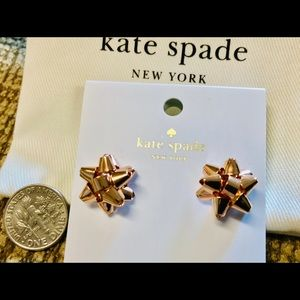 NWT Kate Spade Rose Gold Bourgeois Bow Earrings